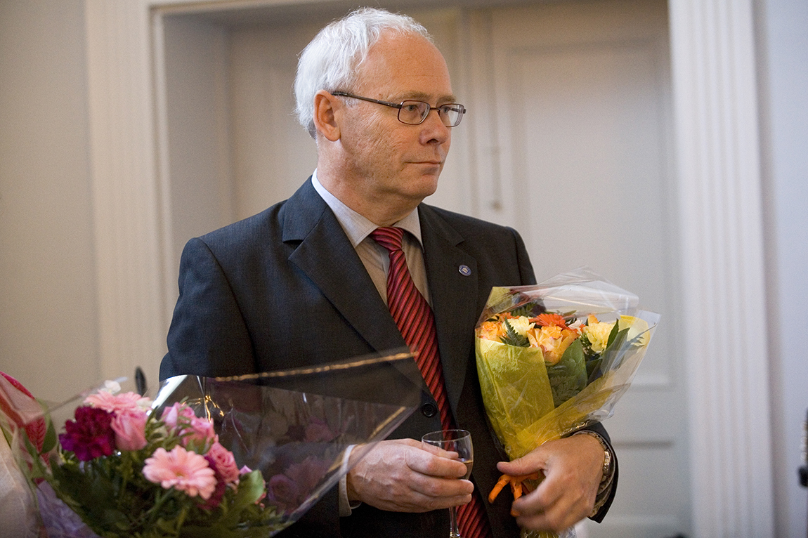 Göran Sandberg at the official farewell as rector of Umeå University at Sävargården in Umeå (photo taken 2010 by Elin Berge, MOMENT)