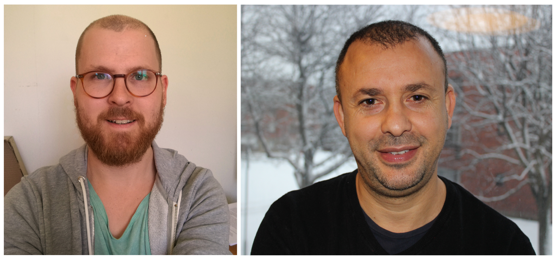 Kristoffer Jonsson (left) and Abdellah Lakehal (right)